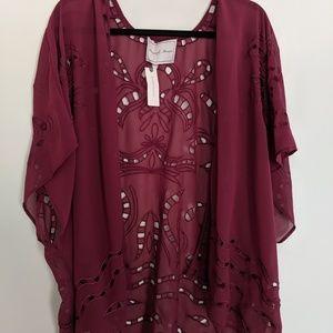 NWT sheer open cardigan/kimono